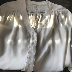Cream colored silk like dress blouse